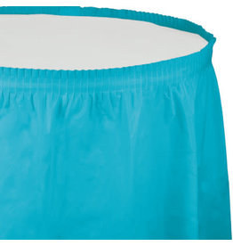 Touch of Color Bermuda Blue Tableskirt - 14ft.