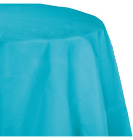 Touch of Color BERMUDA BLUE ROUND PAPER TABLECLOTH