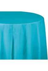 Touch of Color BERMUDA BLUE ROUND PLASTIC TABLECLOTH