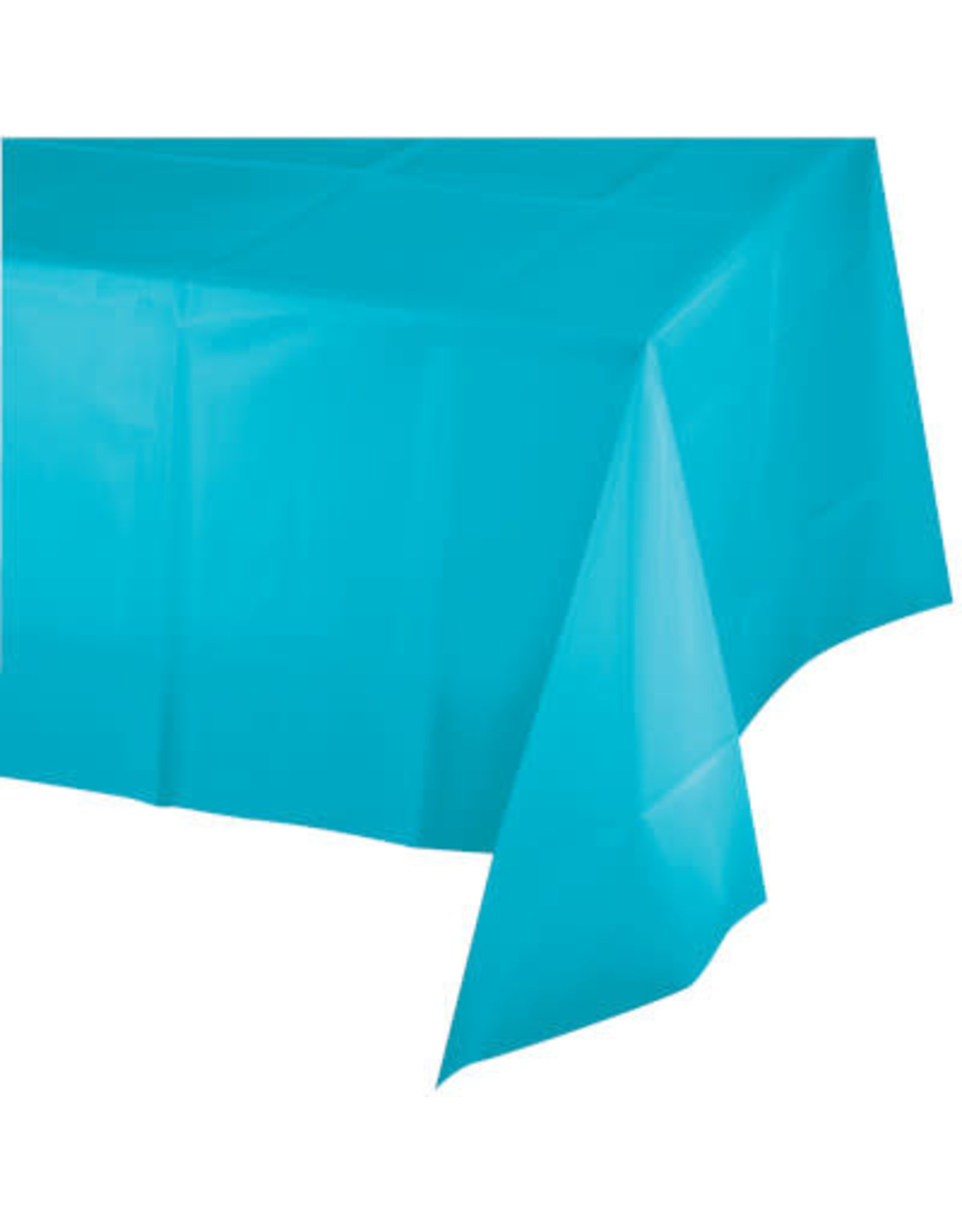 Touch of Color BERMUDA BLUE PLASTIC TABLECLOTH