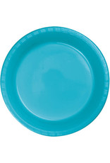 Touch of Color BERMUDA BLUE PLASTIC DESSERT PLATES
