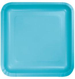 Touch of Color BERMUDA BLUE SQUARE DESSERT PLATES