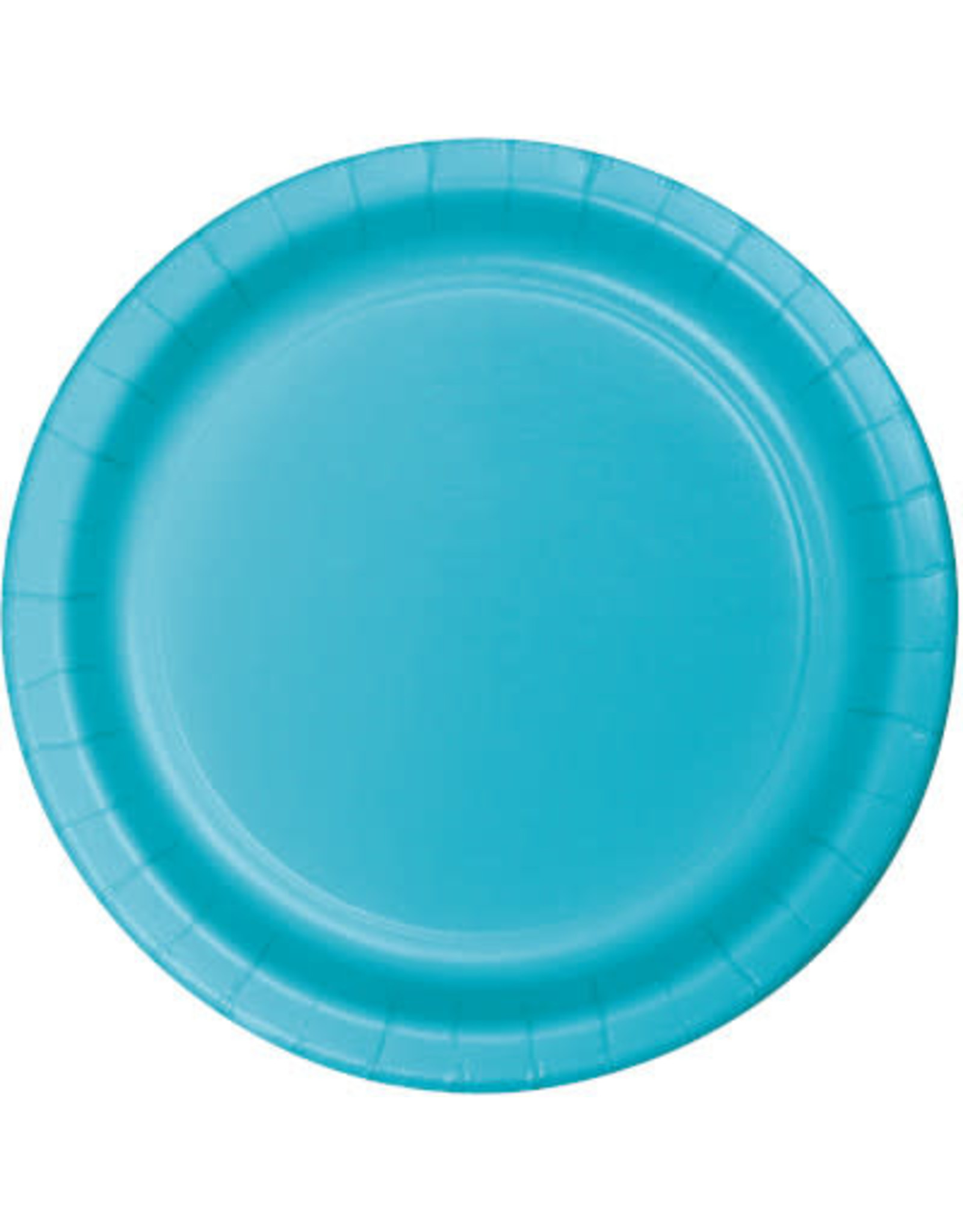 """Touch of Color 10"""" Bermuda Blue Paper Banquet Plates - 24ct."""