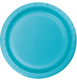 """Touch of Color 10"""" Bermuda Blue Paper Banquet Plate"""