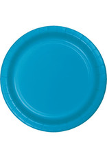 "Touch of Color 10"" Turquoise Paper Banquet Plate"