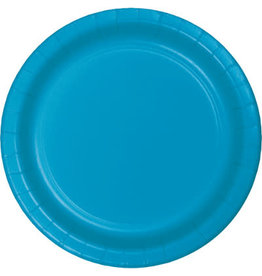 """Touch of Color 10"""" Turquoise Paper Banquet Plates - 24ct."""