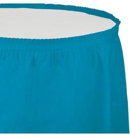 Touch of Color TURQUOISE BLUE PLASTIC TABLESKIRT