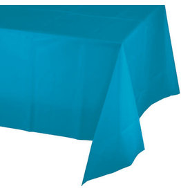 Touch of Color TURQUOISE BLUE PLASTIC TABLECLOTH