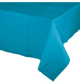 Touch of Color TURQUOISE BLUE PAPER TABLECLOTH