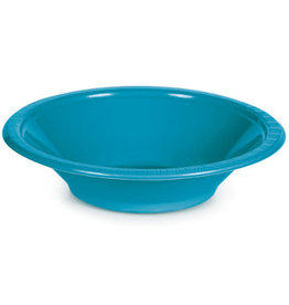 Touch of Color TURQUOISE BLUE 12 OZ PLASTIC BOWLS