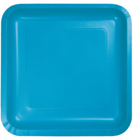 Touch of Color TURQUOISE BLUE SQUARE DESSERT PLATES