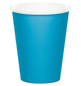 Touch of Color TURQUOISE BLUE CUPS 9OZ