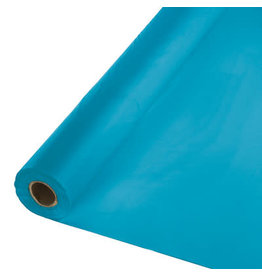 Touch of Color TURQUOISE BLUE PLASTIC BANQUET ROLL