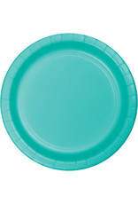 """Touch of Color 10"""" Teal Lagoon Paper Banquet Plates - 24ct."""
