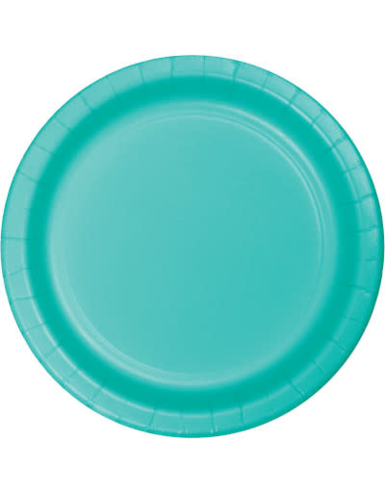 """Touch of Color 10"""" Teal Lagoon Paper Banquet Plate"""