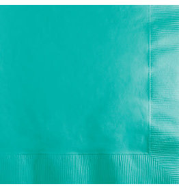 Touch of Color TEAL LAGOON BEVERAGE NAPKINS