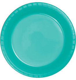 Touch of Color TEAL LAGOON PLASTIC DESSERT PLATES