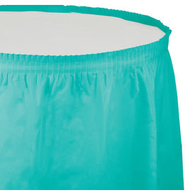 Touch of Color TEAL LAGOON TABLESKIRT