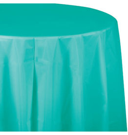 Touch of Color TEAL LAGOON OCTY ROUND PAPER TABLECLOTH