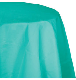 Touch of Color TEAL LAGOON OCTY ROUND PLASTIC TABLECLOTH