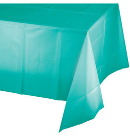 Touch of Color TEAL LAGOON PLASTIC TABLECLOTH