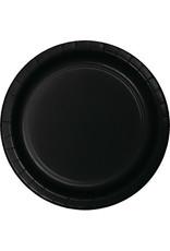 """Touch of Color 10"""" Black Velvet Paper Banquet Plates - 24ct."""
