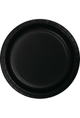 "Touch of Color 10"" Black Velvet Paper Banquet Plate"
