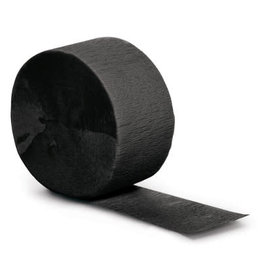 Touch of Color 81' Black Velvet Crepe Paper Roll