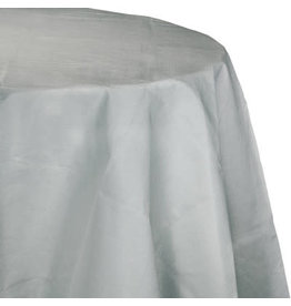 Touch of Color SHIMMERING SILVER OCTY ROUND PAPER TABLECLOTH