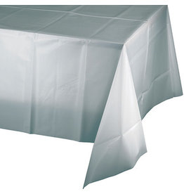 Touch of Color SHIMMERING SILVER PLASTIC TABLECLOTH