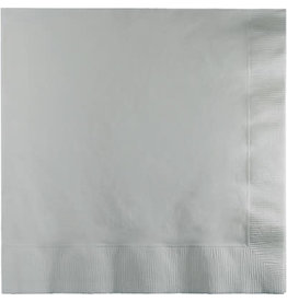 Touch of Color SHIMMERING SILVER LUNCH NAPKINS