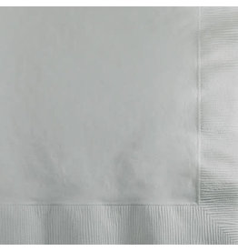 Touch of Color SHIMMERING SILVER BEVERAGE NAPKINS