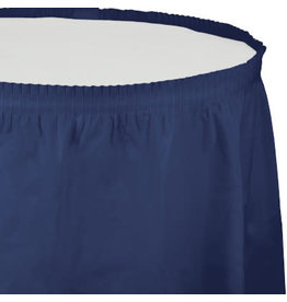 Touch of Color Navy Blue Tableskirt - 14ft.