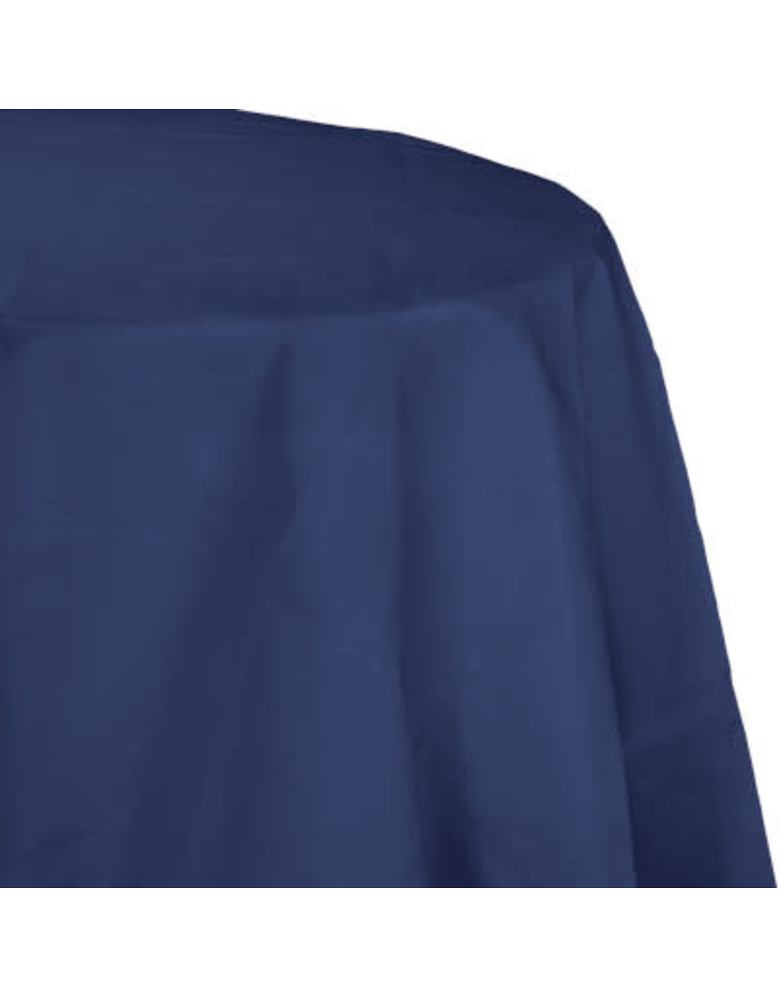 Touch of Color NAVY BLUE OCTY ROUND PAPER TABLECLOTH