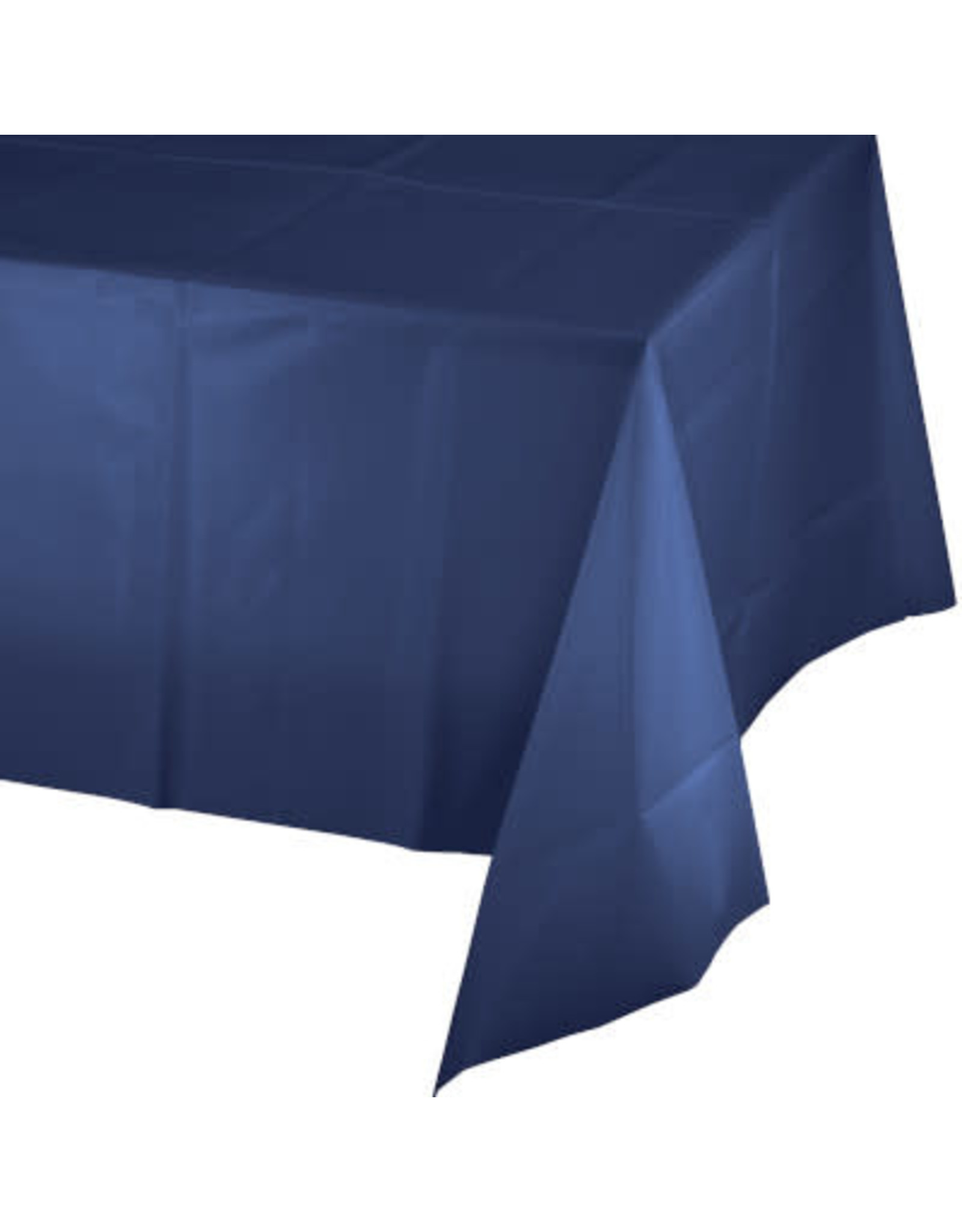 Touch of Color NAVY BLUE PLASTIC TABLECLOTH