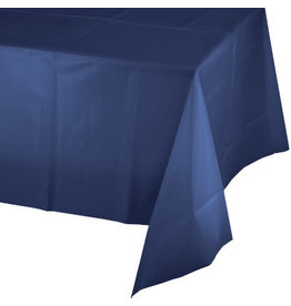 """Touch of Color 54"""" x 108"""" Navy Blue Plastic Table Cover"""