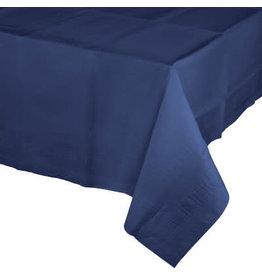 Touch of Color Navy Blue Paper Table Cover 54in. x 108in.