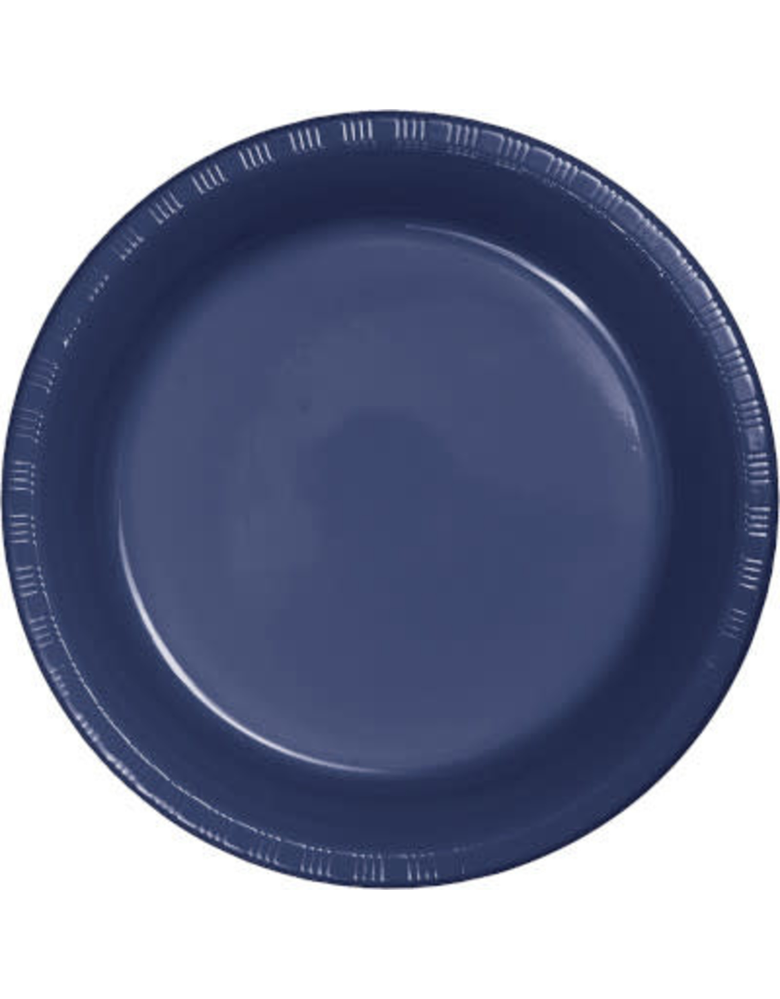 Touch of Color NAVY BLUE PLASTIC DESSERT PLATES
