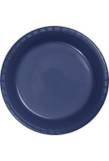Touch of Color NAVY BLUE PLASTIC BANQUET PLATES