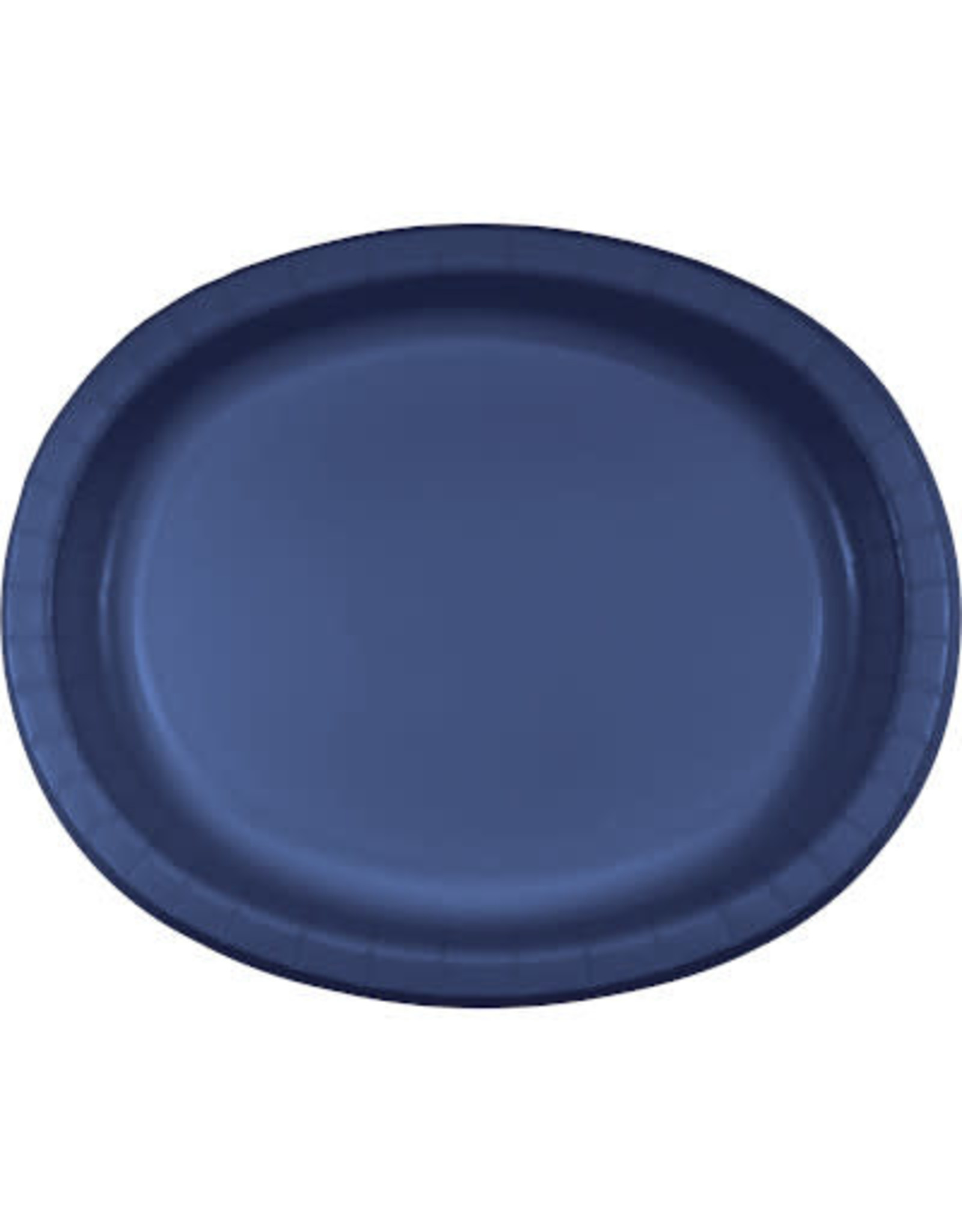 Touch of Color NAVY BLUE OVAL PLATES