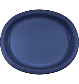 Touch of Color Navy Blue Oval Paper Plates - 8ct.