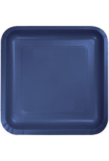 Touch of Color NAVY BLUE SQUARE DESSERT PLATES