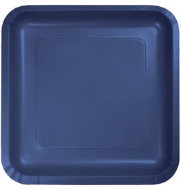 Touch of Color SQUARE NAVY BLUE DINNER PAPER PLATES