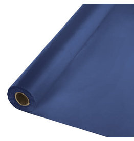 Touch of Color NAVY BLUE PLASTIC BANQUET ROLL