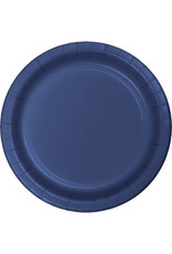 """Touch of Color 10"""" Navy Paper Banquet Plates - 24ct."""