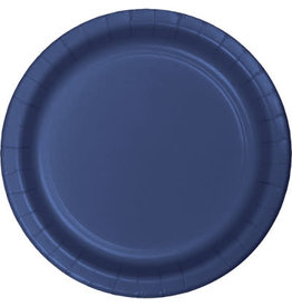 "Touch of Color 10"" Navy Paper Banquet Plate"