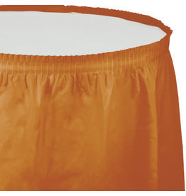 Touch of Color PUMPKIN SPICE ORANGE PLASTIC TABLESKIRT