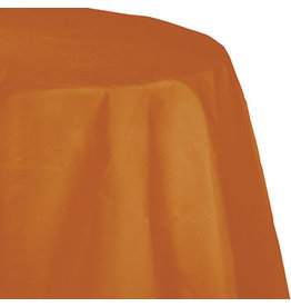 Touch of Color PUMPKIN SPICE ROUND PAPER TABLECLOTH