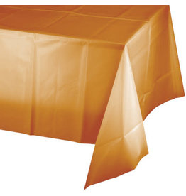 Touch of Color PUMPKIN SPICE ORANGE PLASTIC TABLECLOTH