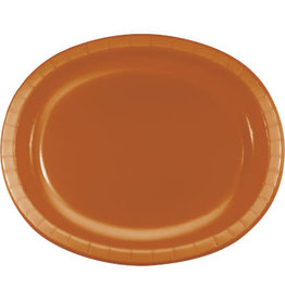 Touch of Color Pumpkin Spice Oval Paper Plates - 8ct.